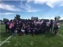 Juniors, Class of 2018 & Seniors, Class of 2017 Join Together After An Intense Powderpuff Game