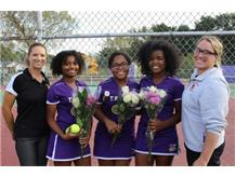 Girls Tennis Seniors Pose For A Picture With Coaches Murawski & Lukas