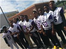 Members of the Varsity Football Team Gather During Back To School Week
