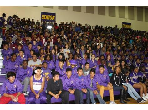 TFN Fall Athletes Are Recognized At The Pep Assembly