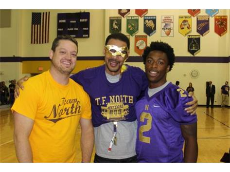 Mr. Altenburg, Mr. Williams, & Senior Anthony Watkins