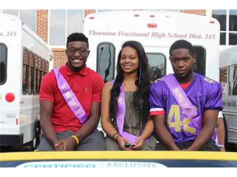 Homecoming Court- Davion Silas, Diamond Gradford, & Keshawn Harrison