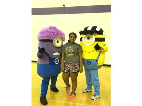 Sr. Juawana Allen Takes A Quick Photo With The Super Minons!