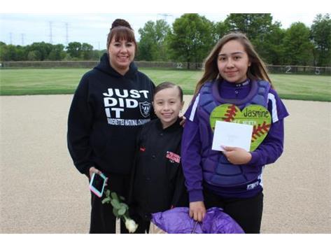 Senior, #12, Jasmine Roa, With Family, Senior Night 5/20/16