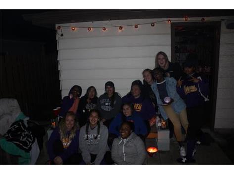 Softball Girls Enjoying A Night Together