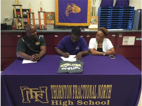 '16 Graduate, Corey Gill, Signs Scholarship Papers To Bowl At Spring Arbor University