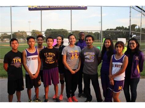 Cross Country Seniors Boys & Girls With Their Coaches