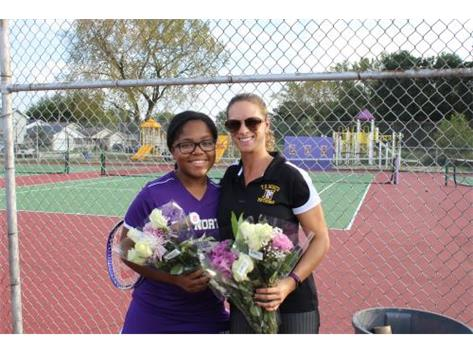 Senior, K. Gibson, With Coach Murawski