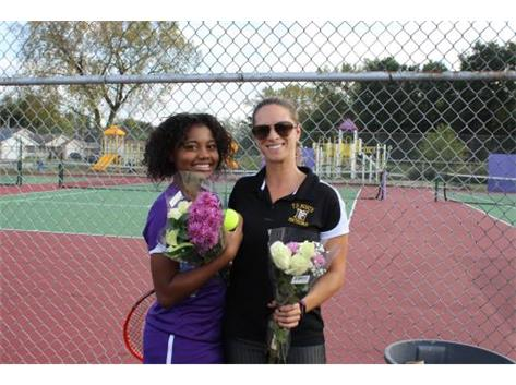 Senior, C. Shelton, With Coach Murawski
