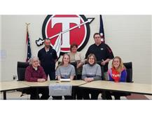 Chrissy Moyer signs with Ohio Christian to continue her education and softball career.