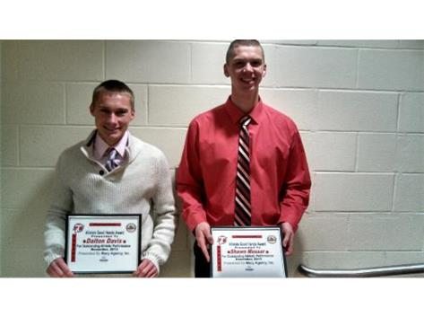 Allstate Good Hands Player of the Week 2013-14 Dalton Davis, Shawn Mosser