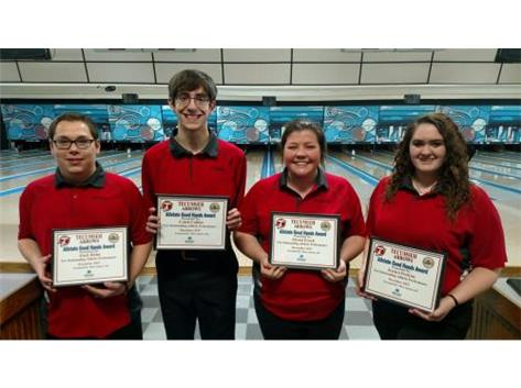 Macy Allstate Athlete of the Week for Bowling: Zach Helm, Caleb Collins, Alyson Frock, Jessica Perkins