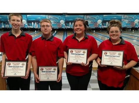 Macy Allstate Athlete of the Week for Bowling: Matt Brown, Dylan Terrell, Alyson Frock, Katie Stamper