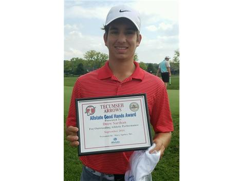 Brian Macy Allstate Athlete of the Week for Golf: Drew Sarihan