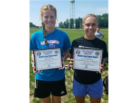 Brian Macy Allstate Athlete of the Week for Soccer: Abby Adams, Brooke Hoffman