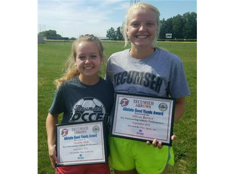 Brian Macy Allstate Athlete of the Week for Soccer: Maddie Hall, Allison Berner