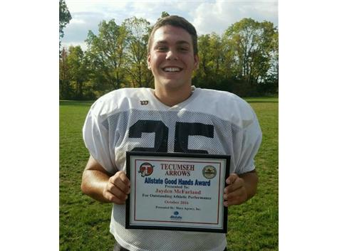 Brian Macy Allstate Player of the Week: Jayden McFarland