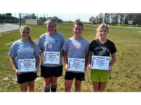 Allstate Good Hands Player of the Week: Ashlee Driscoll, Alexia Lewis, Hayley Seibert, Cassidy Spears