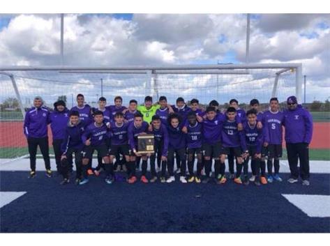 2018-19 Varsity Boys Soccer Team IHSA Regional Champions