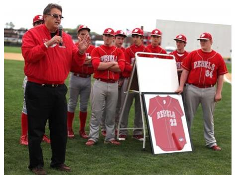 Coach Anderson, thanks for over 30 years of outstanding Rebel baseball!