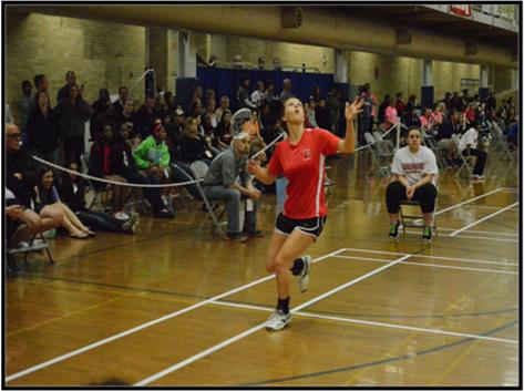 Cassie Breshock excelled in both SINGLES & DOUBLES as a Badminton Player.