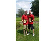 Jimmy Brush and Coach Vander Naald take 2nd place with a 7 under par 65!!