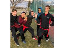 Tennis Team in Action