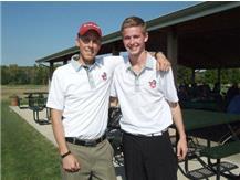 Coach and senior Logan Byrne