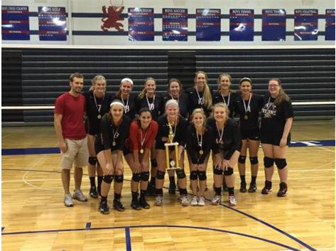 Varsity Volleyball repeats as Champs at the 2015 St. Viator Invite!