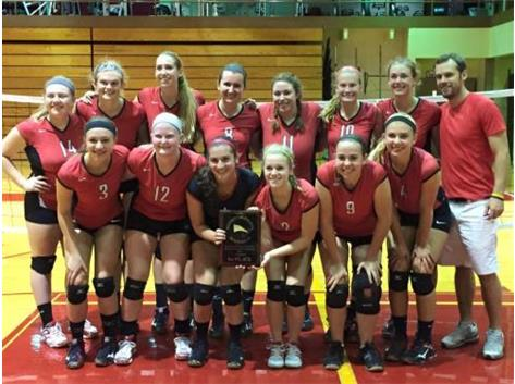 Varsity Volleyball repeats as Champions of the TC/Westmont Invite!