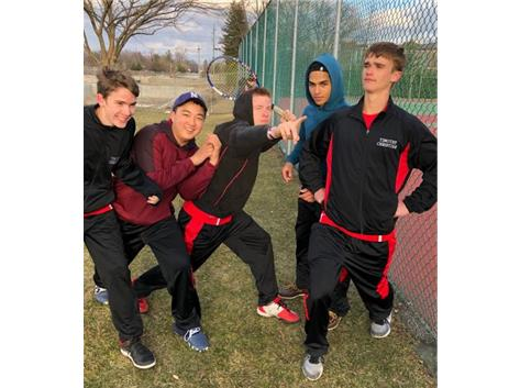 Tennis Team in Action
