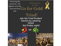 Childhood awareness month!! Wear your gold Friday!!