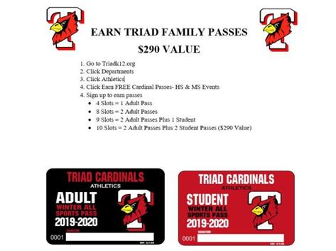 Please use the link below to sign up to volunteer for winter Triad HS/MS athletic events. Receive your THS/TMS athletic pass before the winter season begins!