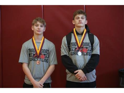 Coleman Hauck- 2nd and  Drue Instine- 3rd