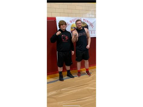 Congratulations to Brian Ferguson for placing 2nd and Cameron Crabtree placing 1st while representing Triad High School at the Eric Wheeler memorial powerlifting meet!