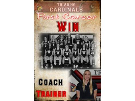 Coach Trainer recorded her fist win as the varsity girls basketball coach on 12/12 vs Northeastern.