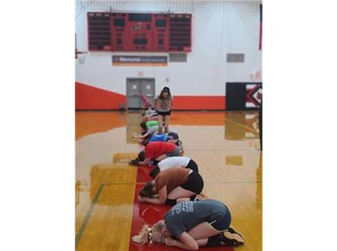 a little leapfrog at practice