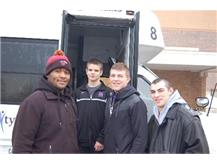 Patrick Walker - 106 and Nick Bonomo - 170 (Center) are headed to the State Wrestling with the alternates EJ Phillips and Mike Gastedello.
