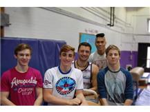 IHSA State Qualifiers Gymnastics  Kevin VanSaten, Lukas Elisha, August Strauch, Michael Kudelka, Nicholas Coritana