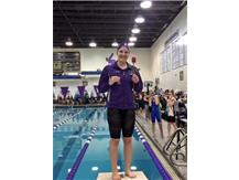 A BIG CONGRATS to Libby Benge— 100 Breast (1:06.05)--Sectional CHAMPION and a new F/S Record!