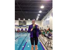 A BIG CONGRATS to Ellie Benge! Sectional CHAMPION in the 100 FLY—56.64!