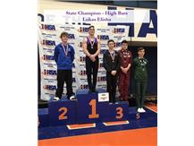 High Bar State Champion Lukas Elisha