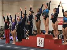 Mia Bowers  - 8th place in the all around