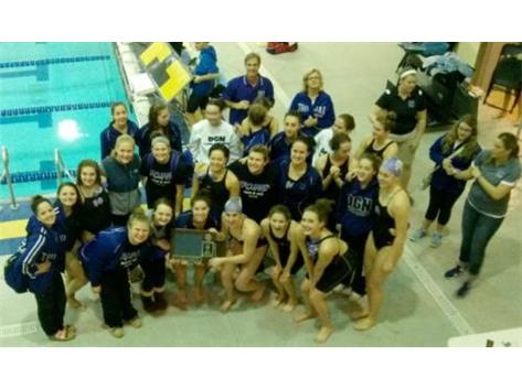 First Ever Conference Champions in Girls Swim & Dive Team