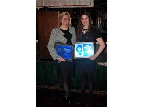 Judy Busse - Head Coach of the Year and Gabby Sims - Senior Swimmer of the Year 2013