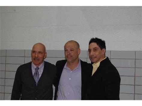 Hall of Fame 2014 Will Kupisch, Senator Ron Sandack, and Al Quintana Jr.