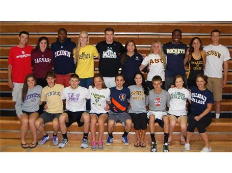 Best wishes to our senior athletes continuing their athletic careers in college