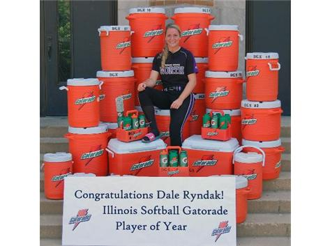 Dale Ryndak Illinois Softball Gatorade Player of the year