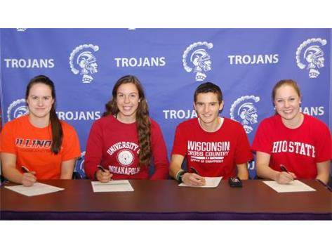 Gabriele Serniute, University of Illinois, Champaign – Urbana – Swimming, Emma Varsbergs, University of Indianapolis, Softball, Ryan Clevenger, University of Wisconsin, Cross Country/Track, Emily Albrecht, Ohio State University, - Coach Judy Busse