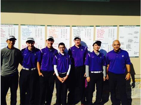 Boys Golf place 2nd in IHSA Regional